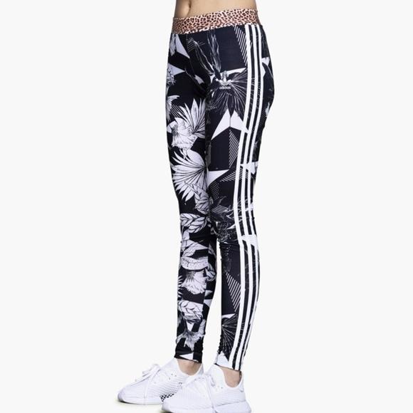 e4b9d20c266 adidas Pants | Nwt Farm Floral Print 3 Stripe Leggings | Poshmark